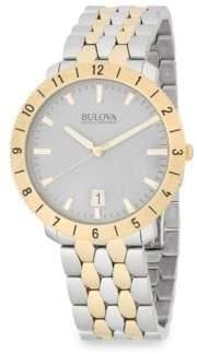Bulova Moonview Stainless Steel Bracelet Watch