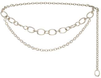St. John Metal Chain Link Double Strand Belt