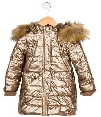 Imoga Girls' Metallic Puffer Coat