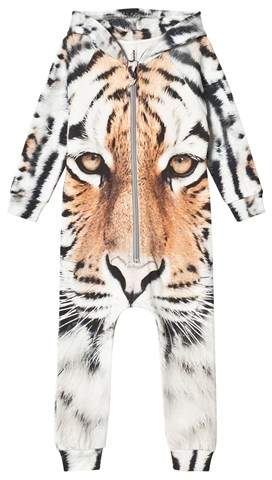 Popupshop Orange Tiger Hoodie Suit