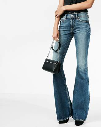 Express Mid Rise Stretch+ Performance Bell Flare Jeans