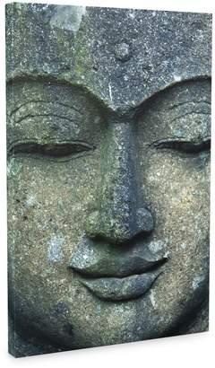 Eurographics Rough Stone Buddah Face Canvas Wall Art