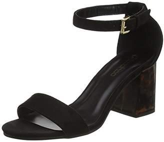 boohoo Women's Two Part Heeled Sandal Open Toe (Black), 39 EU
