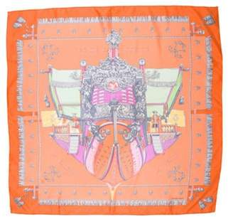 Vue Hermà ̈s du Carosse de la Galà ̈re la Réale Silk Scarf multicolor Hermà ̈s du Carosse de la Galà ̈re la Réale Silk Scarf