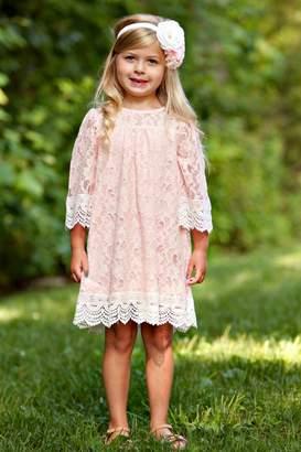 N. Peaches 'N Cream Girls Lace Dress