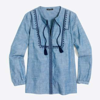 J.Crew Factory Embroidered peasant top
