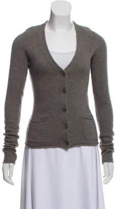 Inhabit Cashmere Cold-Shoulder Cardigan