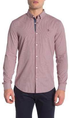 Original Penguin Gingham Long Sleeve Slim Fit Shirt