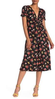Velvet Torch Floral Twist Cropped Jumpsuit