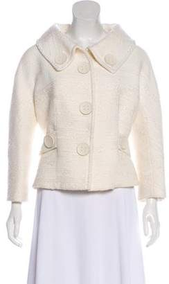 Giambattista Valli Button-Accented Wool-Blend Jacket