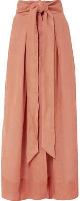 Kalita - Avedon Days Linen-canvas Maxi Skirt - Brown