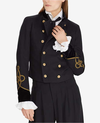 Polo Ralph Lauren Velvet-Trim Military-Inspired Jacket