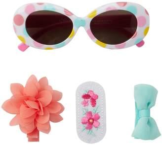 Little Me Multicolored Dot Sunglasses & Hair Set (Baby Girls)