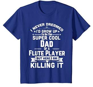 Super Cool Dad Of A Flute Player Marching Band T-Shirt