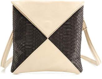 EOS Annie Diamantidis Leather and Genuine Python Messenger Bag
