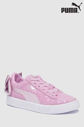Next Girls Puma Pink Suede Bow