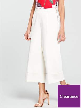 Ted Baker Ppollyt Wide Leg Cuff Detail Culotte - Ivory