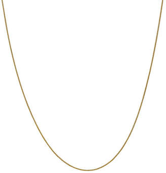 FINE JEWELRY 14K Gold Solid Wheat 14 Inch Chain Necklace