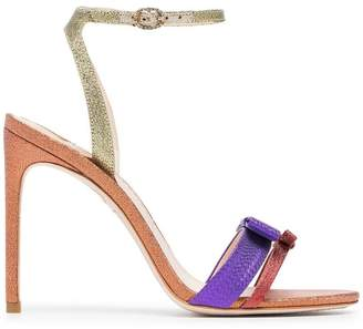 Sophia Webster Andie 100 high-heeled glitter-leather sandals