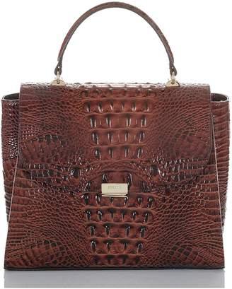 Brahmin Ingrid Croc Embossed Leather Satchel