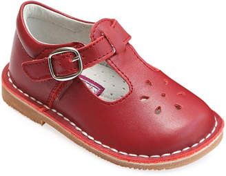 L'amour Shoes Joy Leather Cutout T-Strap Mary Jane, Baby/Toddler/Kids