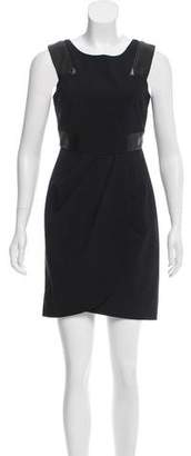 Cynthia Steffe Wool Leather-Accented Dress