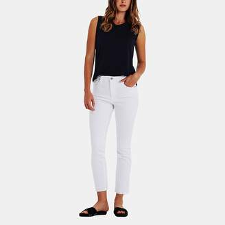 AG Jeans Isabelle High-Rise Straight Crop Jean in 01 Year W