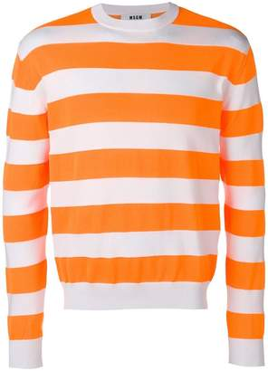 MSGM stripe pattern sweater