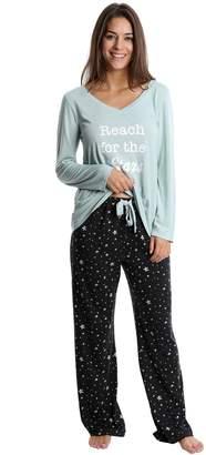 202f4e5fb6 Wallflower Juniors  WallFlower Graphic Sleep Tee   Printed Pants Pajama Set