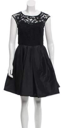 Marchesa A-line Mini Dress