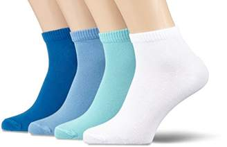 S'Oliver Socks Unisex Classic Quarter 4p Ankle Socks,6/8 pack of 4