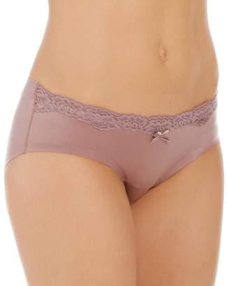 Maidenform Women's Comfort Devotion Embellished Hipster Panty, Navy/White Dot