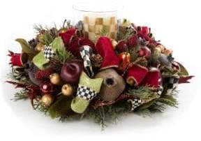 Mackenzie Childs Yuletide Manor Candle Centerpiece