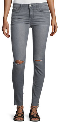 Joe's Jeans The Icon Skinny Ripped Ankle-Zip Jeans, Mando $189 thestylecure.com
