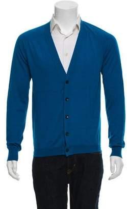 Balenciaga Cashmere & Silk Blend Lightweight Cardigan