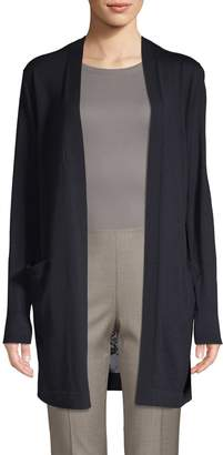 Lafayette 148 New York Chantilly Lace-Trimmed Cardigan
