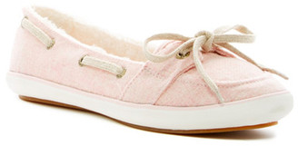 Keds Teacup Boat Wool Faux Fur Lined Slip-On $55 thestylecure.com