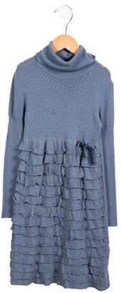 Blumarine Girls' Ruffled Knit Dress