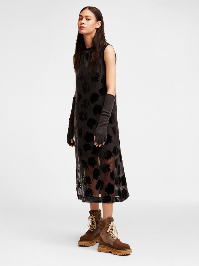 DKNYVelvet Rose Midi Dress