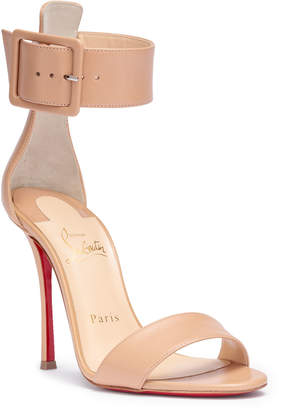 Christian Louboutin Blade Runana 100 beige leather sandals
