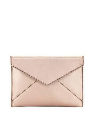 Rebecca Minkoff Leo Metallic Leather Envelope Clutch Bag