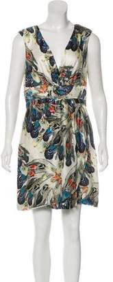 Leifsdottir Printed Silk Mini Dress
