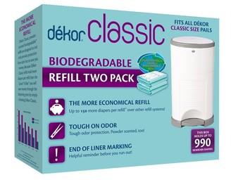Dekor Diaper Disposal Bin Refill Bag Classic 2-Pack