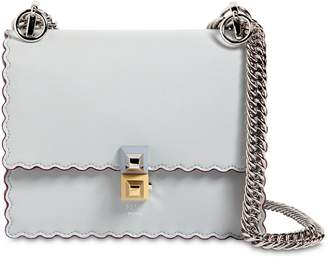 Fendi Small Kan I Scalloped Leather Bag