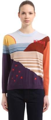 Sonia Rykiel Landscape Intarsia Wool Knit Sweater