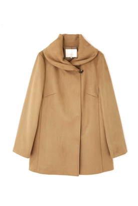 Aylesbury (アリスバーリー) - ◆大きいサイズ◆タック襟スエードダンボールコート キャメル1