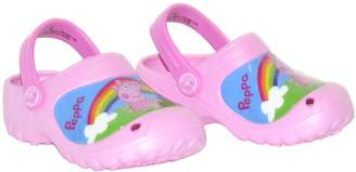 Peppa Pig Rainbow Scene Rubber Crocs Clogs Sandals Girls