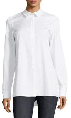 Lafayette 148 New York Brayden Vented Long-Sleeve Blouse