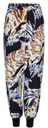 Stella McCartney Joey printed crêpe trousers