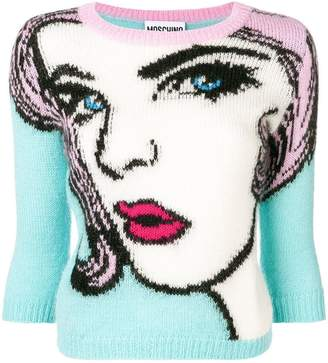 Moschino printed knitted sweater